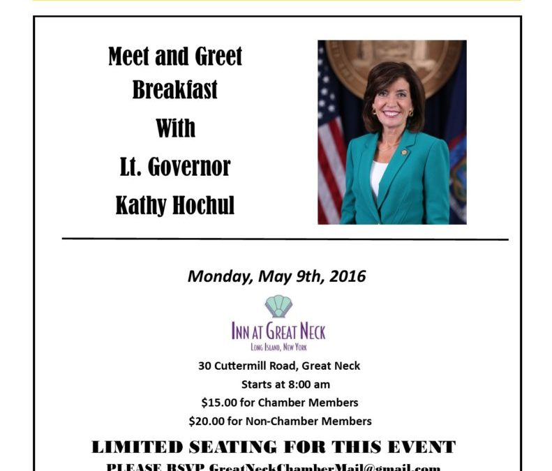Breakfast with Lt. Gov. Kathy Hochul